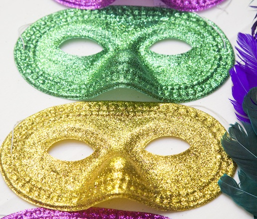 Masks for Mardi Gras at the Beard House